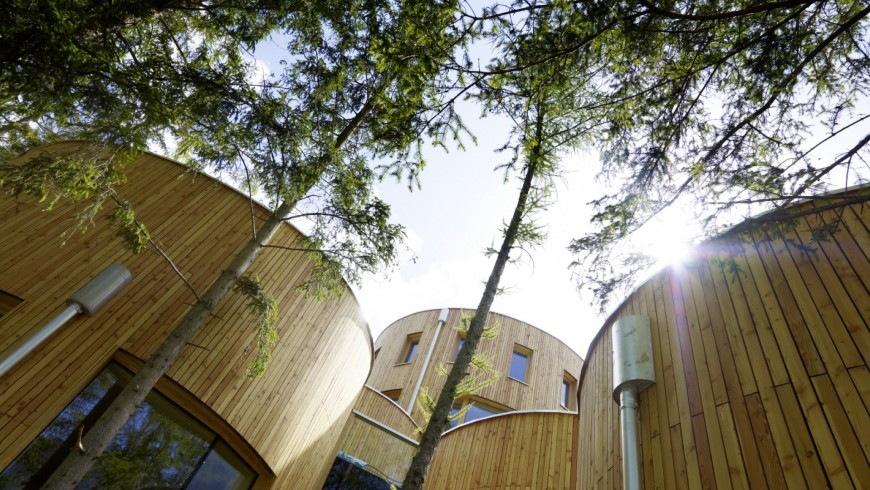 The Naturhotel Waldklause combines design, architecture, art and nature