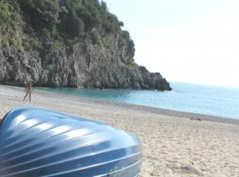 Sand beach surrounded by Cilento's wild nature
