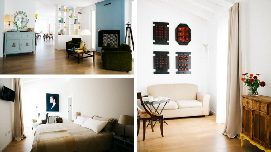 Solo Qui, interiors of the eco-sustainable B & B in the Venice countryside