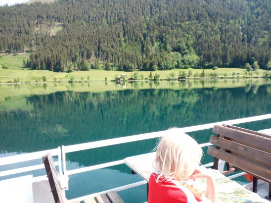 on boat on the lake Weissensee