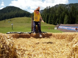 The straw jump in Valbona, Moena