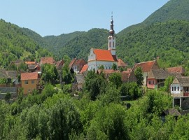 Itinerary in the small town of Vršac, Serbia
