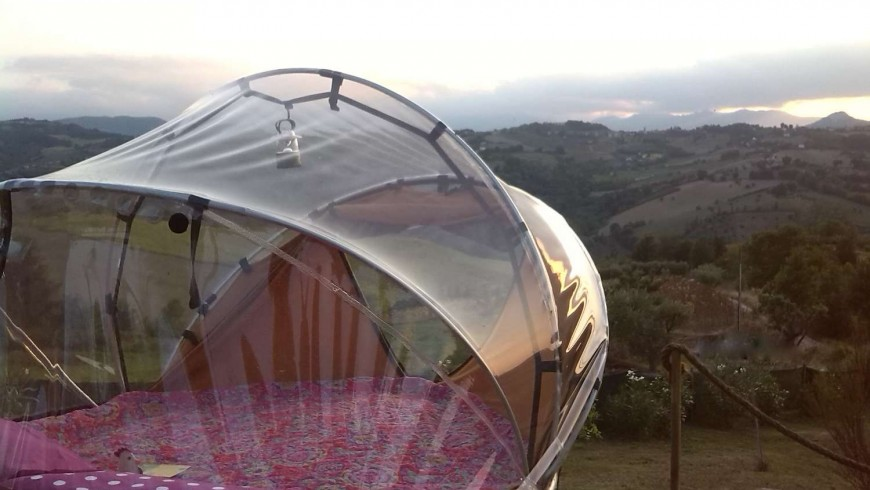 Sleeping under the stars in the Marche