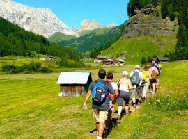 Long walks in the Dolomitic landscape of Fassa Valley, starting from the Hotel Garden