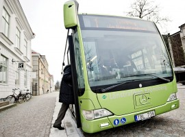 Buses using biogas from food waste, photo by Erik Martensson