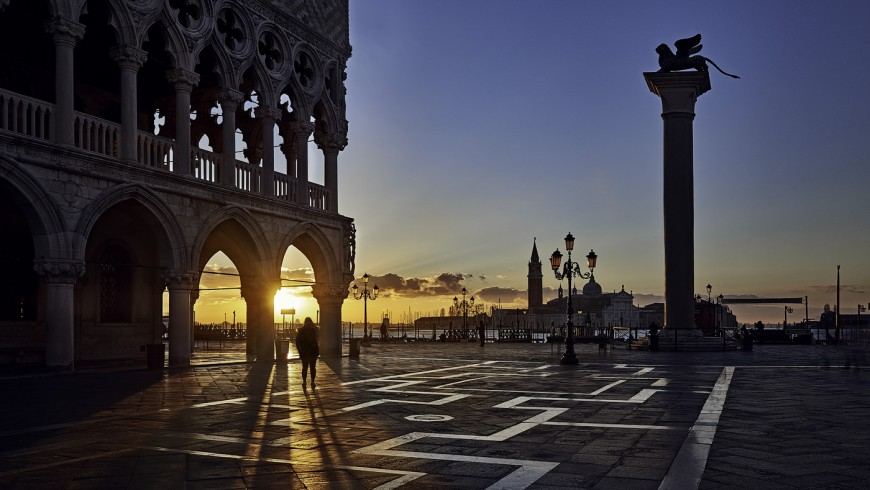 Sunset - green venice