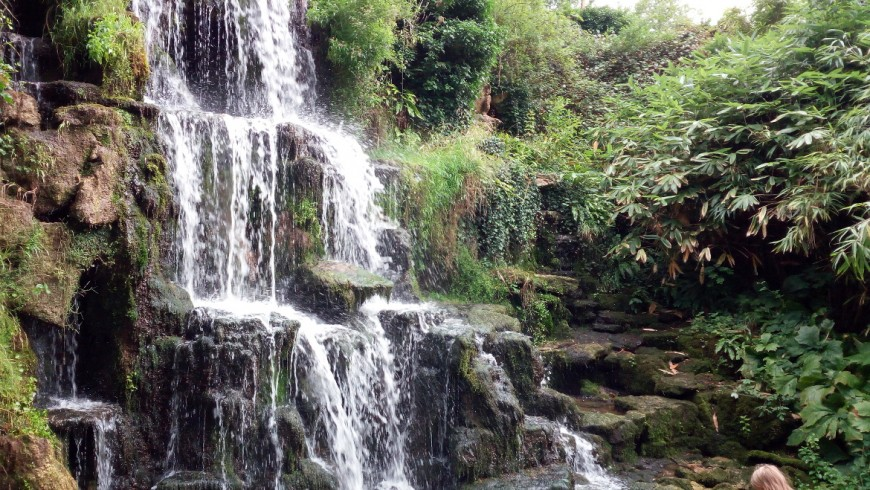 Waterfall of the Park of Bowood
