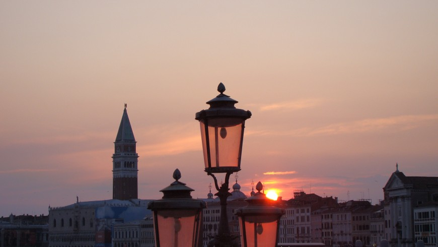Venice at the sunset