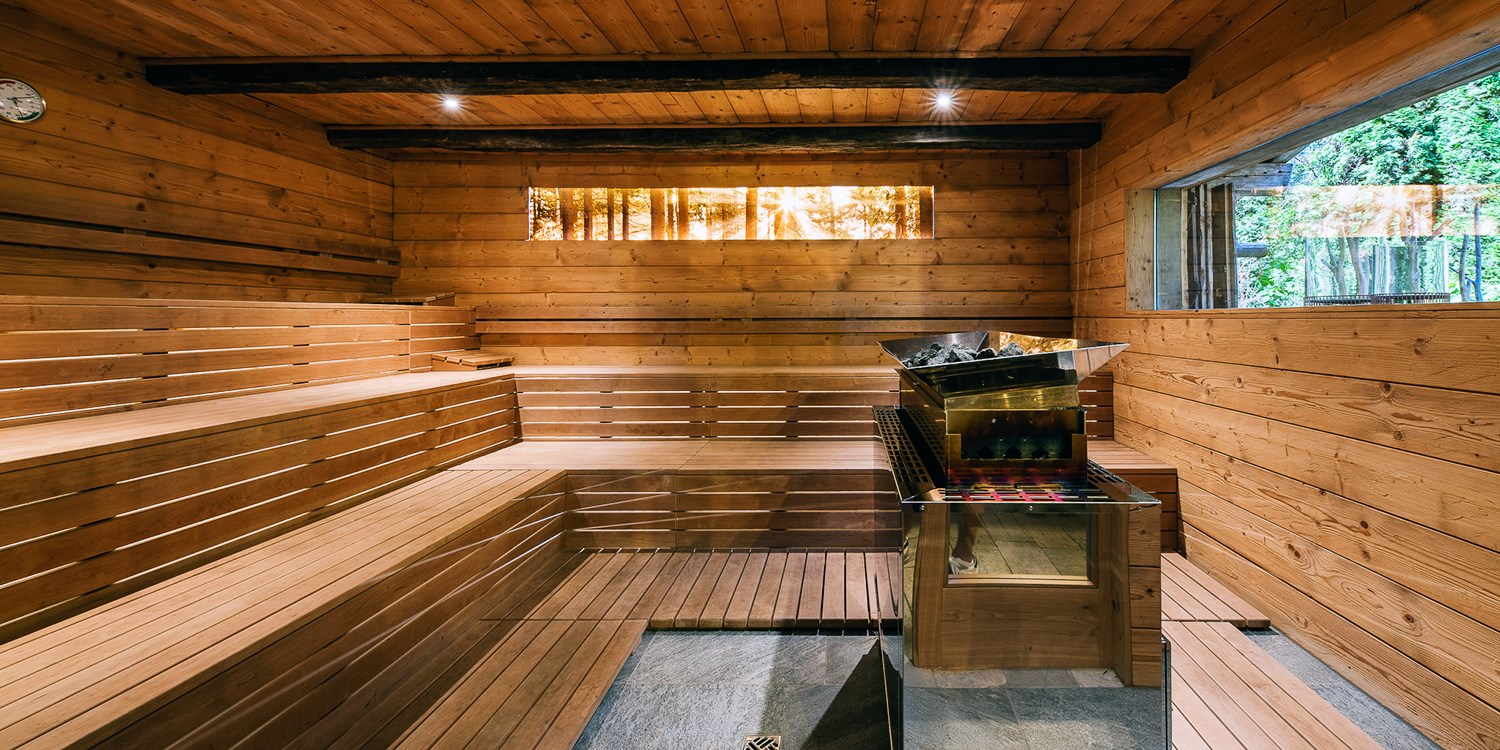 High altitude wellness, sauna in the eco-friendly hotel Rainer, Ratchings