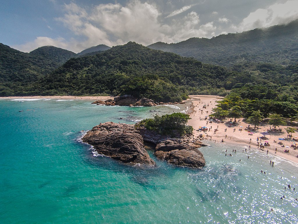 Areal view of the Ilha Grande baia, Brazil