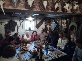 Gastronomy step in a hut of Val di Funes
