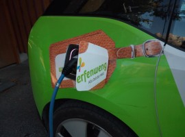 Electric car in Werfenweng