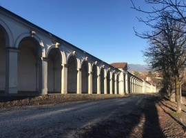 The porticos going up the hill