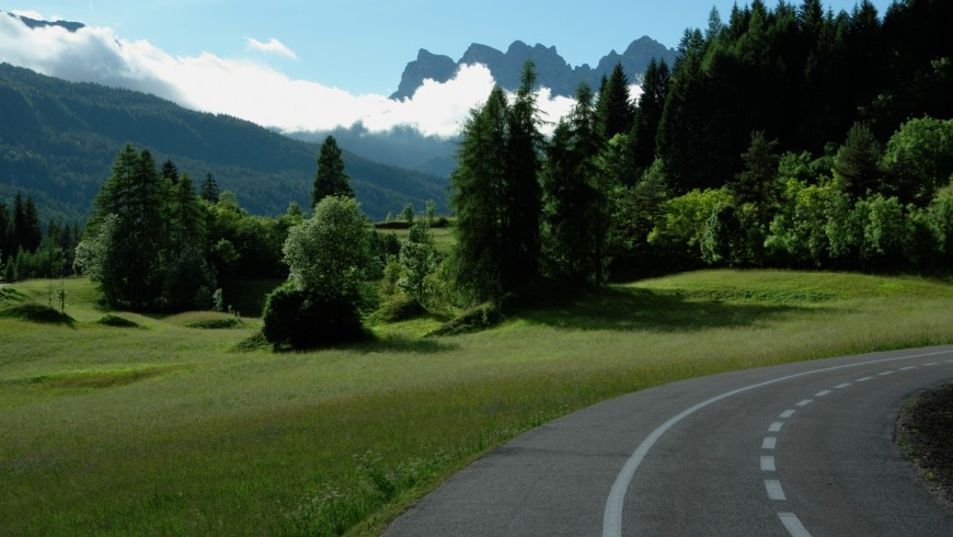 Bike path in the Dolomites
