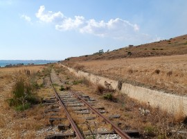 Section of the old railway Castelvetrano-Ribera