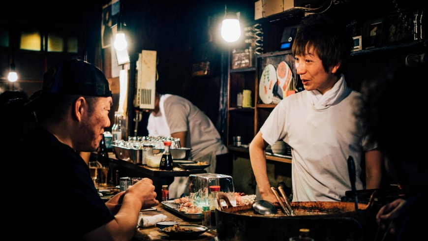 when you travel, talk with locals, Shinjuku Omoide Yokocho, Shinjuku-ku, Japan