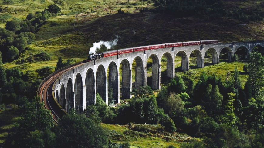 travel by train in Glenfinnan, United Kingdom