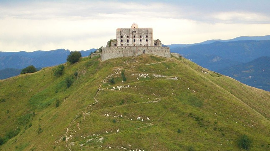 Forte Diamante (Genova), one of the Savoy forts, on the top of a hill