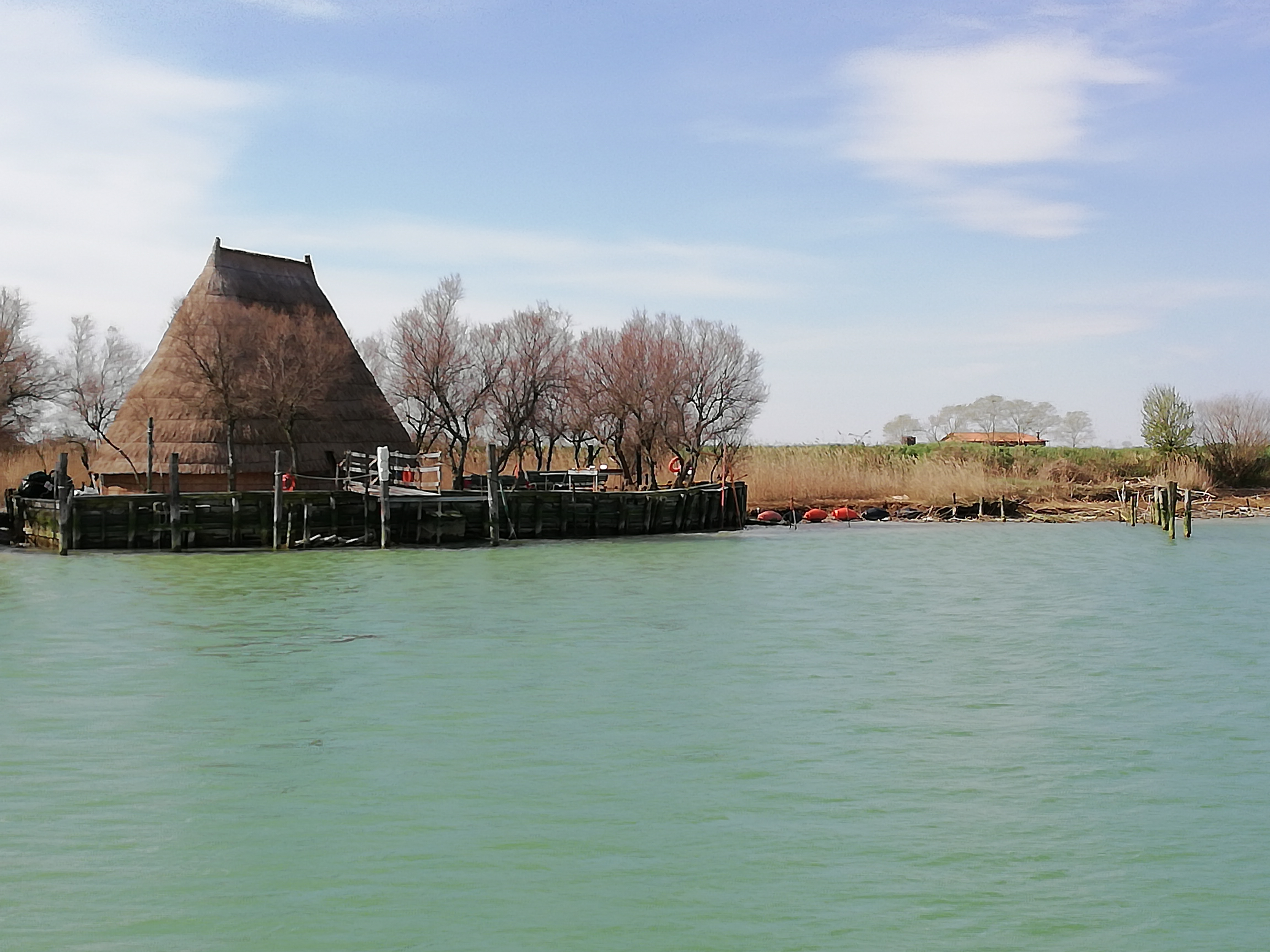"""One of the """"casoni"""", fisherman's mansion, with straw roof"""