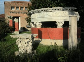 small temple outiside the museum of Altino