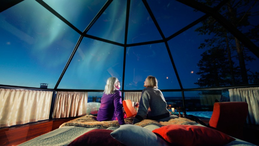 A holiday in a glass igloo