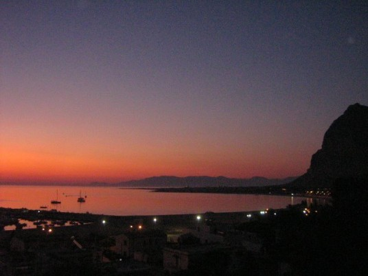 Sunset on the sea from Auralba hotel