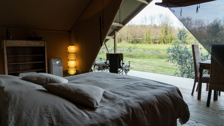 Sleep under the stars in a luxurious tent in Tuscany