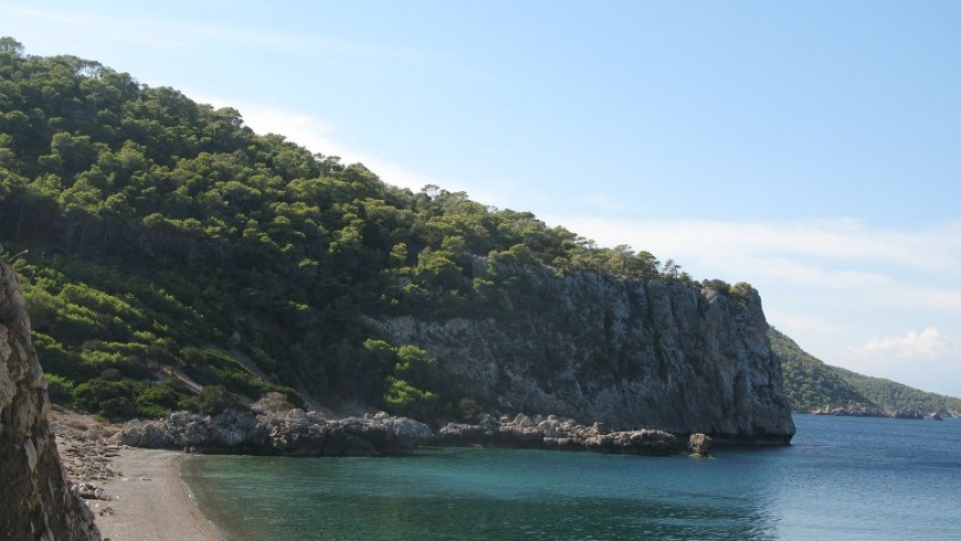 A bay in the Gulf of Corinth