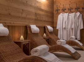 Relax zone in the spa