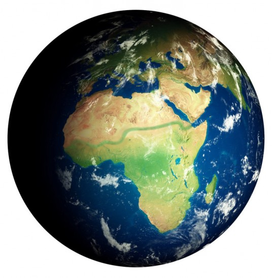 The Great Green Wall, a long green line that crosses Africa, picture via freatgreenwall.org