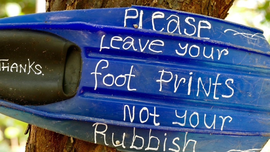 leeave your foot print not your rubbish