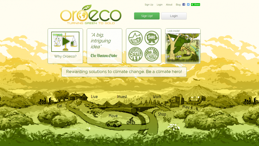 Oreco, eco-friendly apps