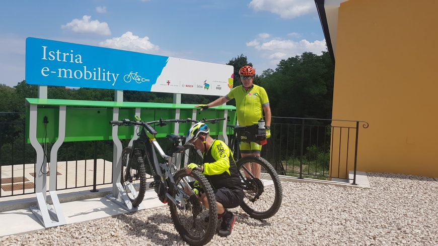 e-charging stations in Istria