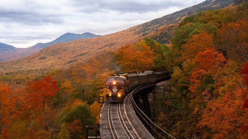 New Hampshire, USA by train